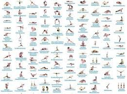 Image Result For Yoga Asanas Chart With Name