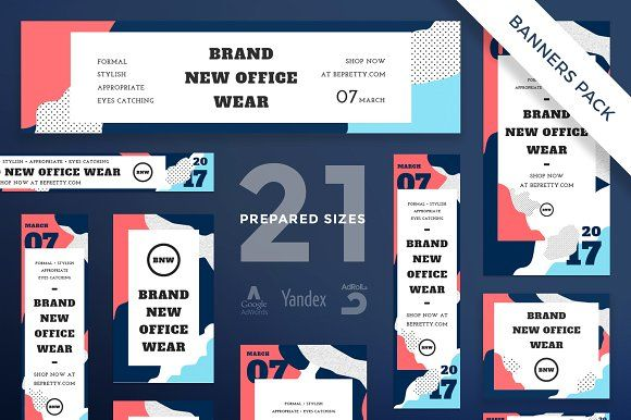 Banners Pack Office Wear Web Banner Design Banner Design Web Banner