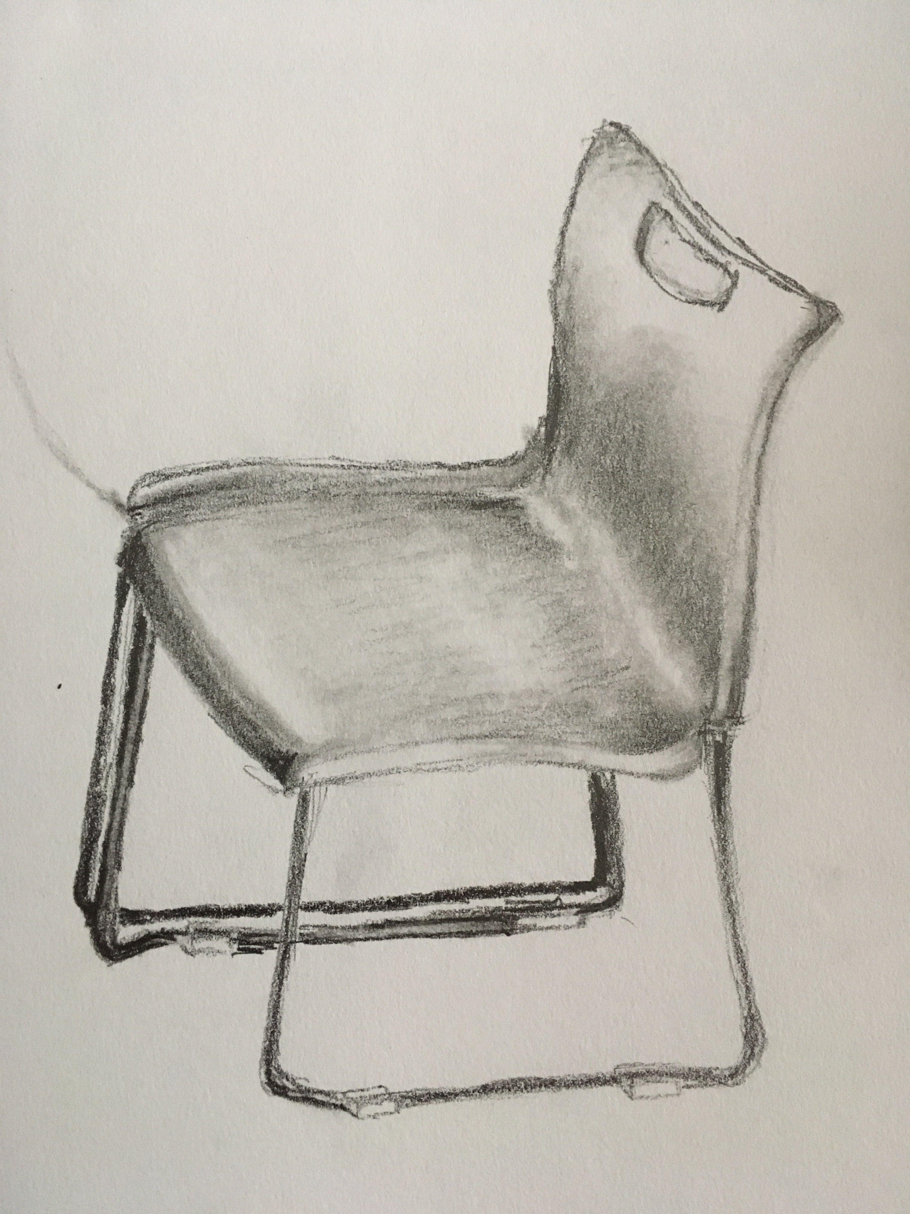 Chair Sketch 20 Minute Pencil Sketch Chair Ghost Chair Pencil Sketch