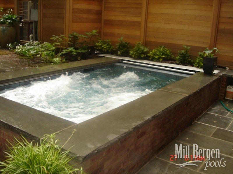 Rooftop Pool | Spa Design | Mill Bergen Pools | Brooklyn, NY