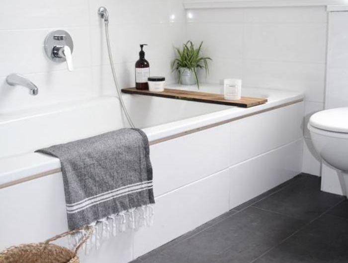 59 salles de bain chic qui vous montrent le beauté du carrelage gris - salle de bain carrelee