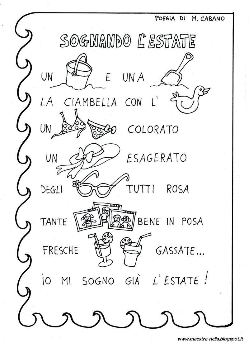 migliori marche offrire sconti prezzo limitato maestra Nella: poesie illustrate | ESTATE / PESCI/ AN ...