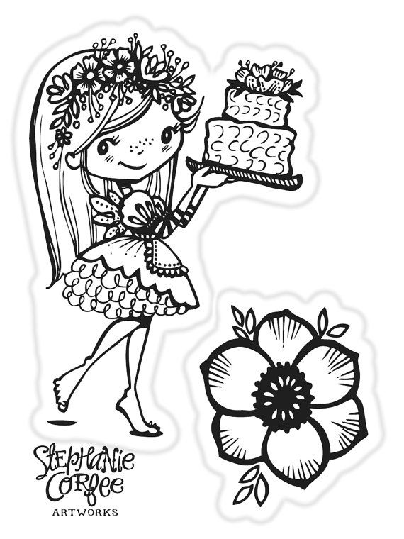 Cake Stamp Set by justatraceco on Etsy