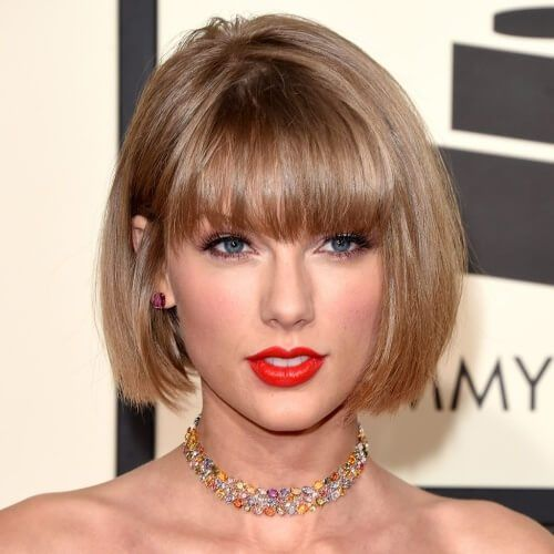 Blonde Bob Haircuts With Bangs Blondehairstylesdirty