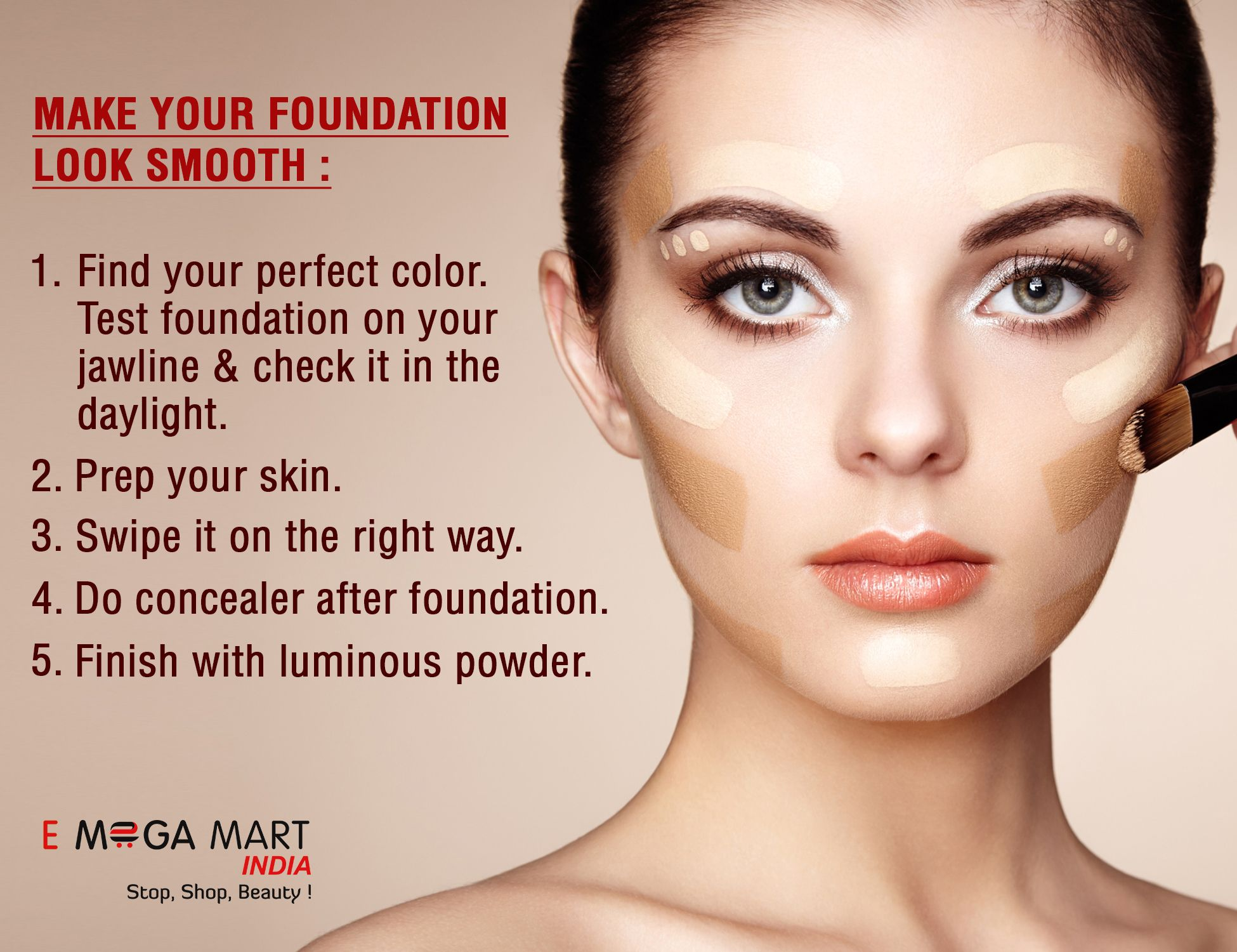Make Your Foundation Look Smooth Here Are Few Steps Mentions Which Can Help You To Look More Beautiful We H Makeup Store Makeup Goals Makeup Tutorial