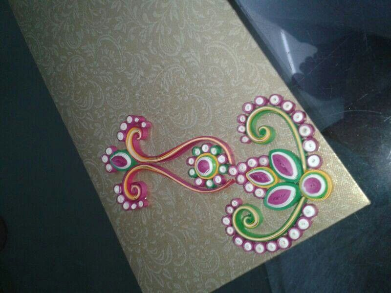 Paper quilling patterns envelopes