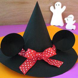 kids crafts halloween minnie hat
