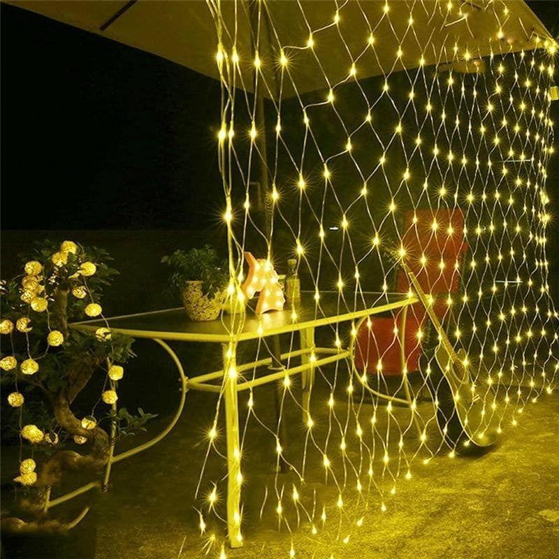 LED Mesh Net Lights String Fairy Lights Wedding Party Outdoor Garden Home Decor