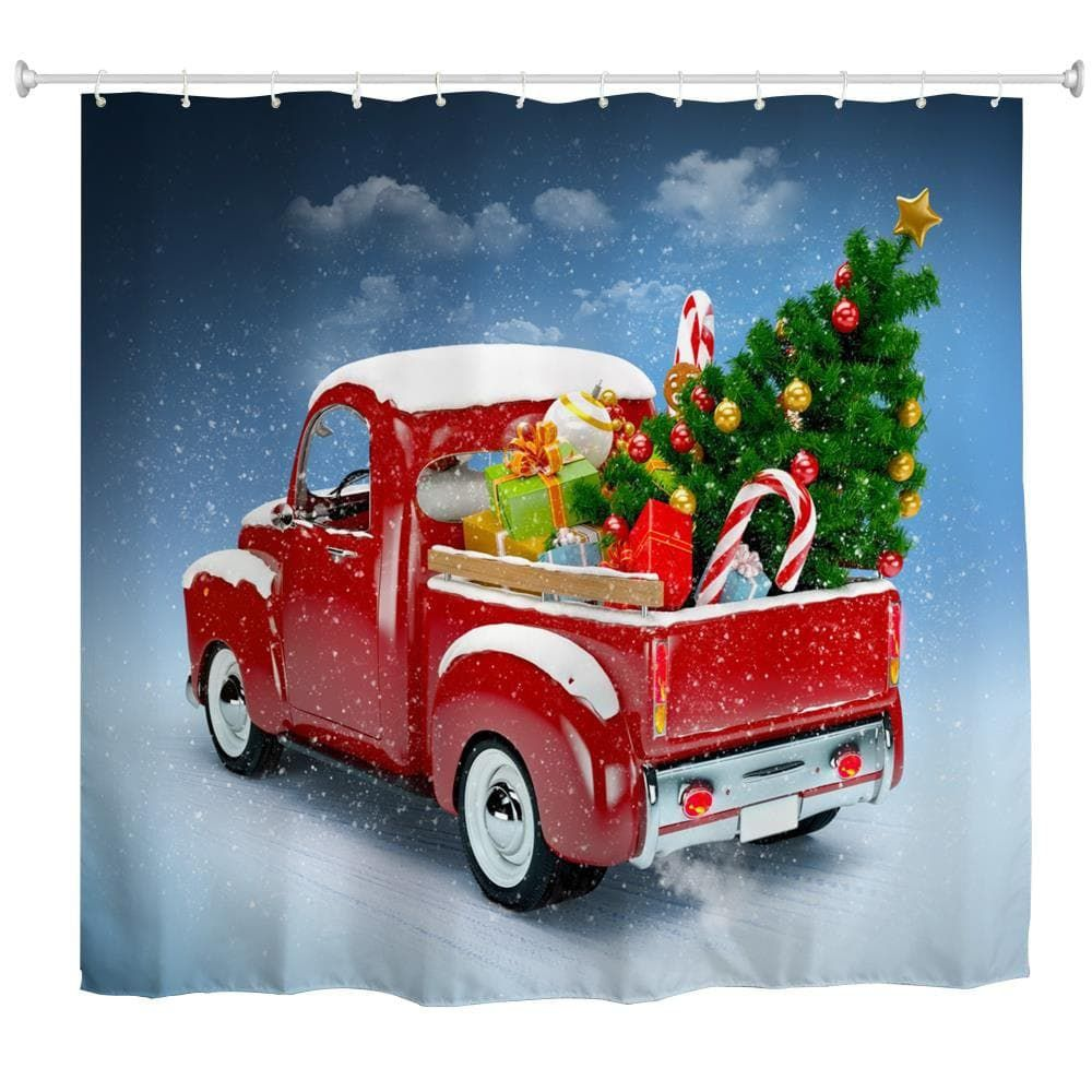 Truck Christmas Tree 3D Digital Printing Fabric Waterproof and ...