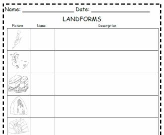 Worksheets Landforms Worksheets landforms worksheets 3rd grade worksheet mountains enchantedlearning com