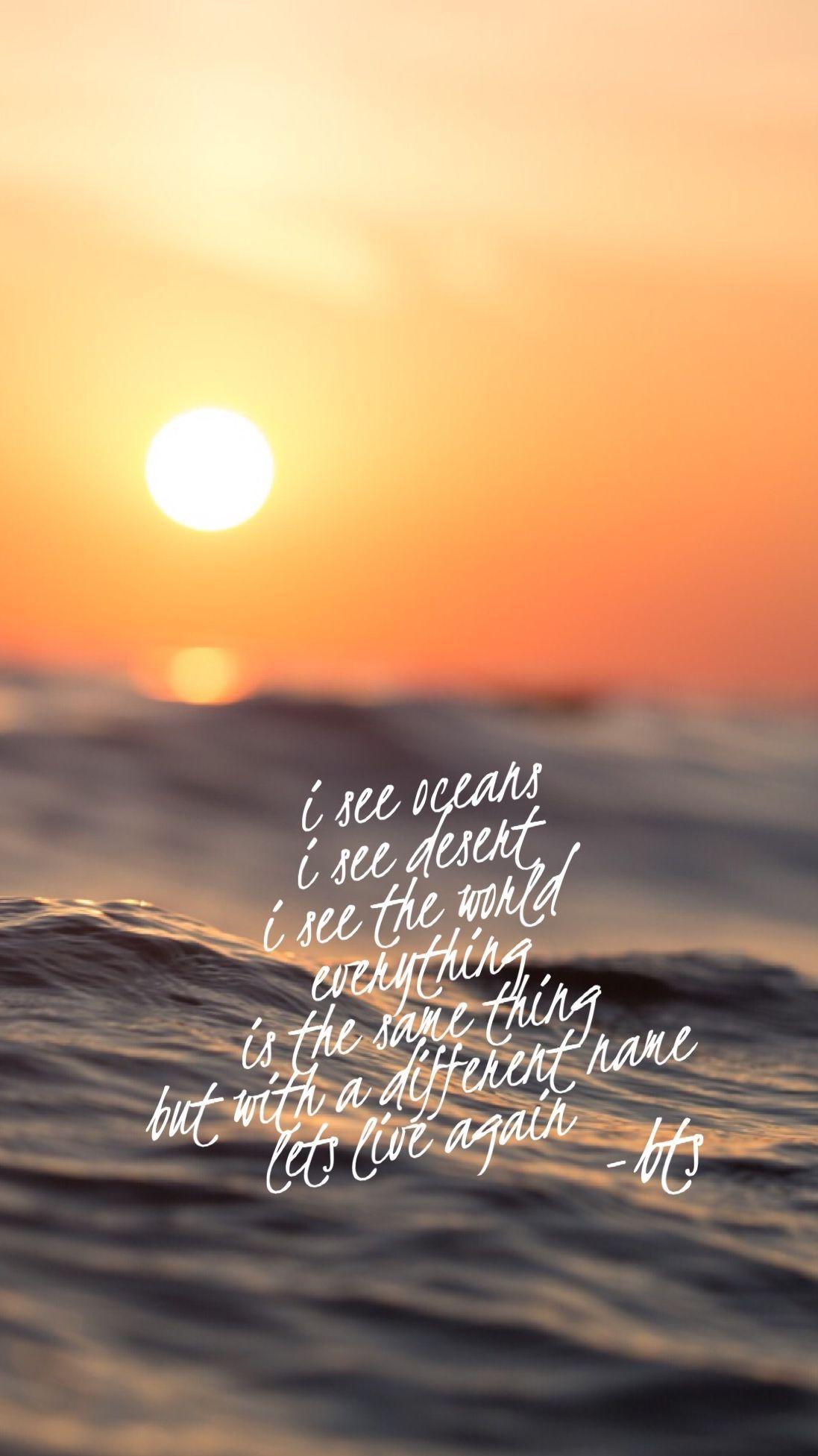Bts Sea Lyrics 바다 Wallpaper Love Yourself Album Bangatn