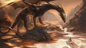 El Dragón Negro.  por sakimichan