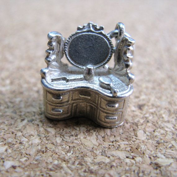 Vintage Silver Nuvo Moving Dressing Table Charm by DottieDollie, £32.00