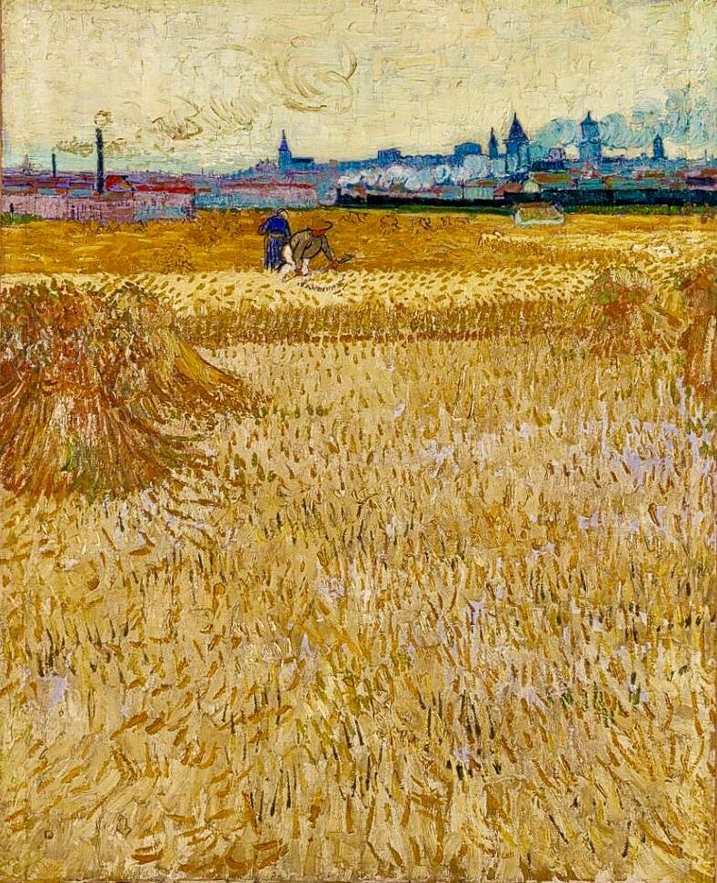 Les Moissonneurs The Harvesters 1888 The Horizon Line Very High