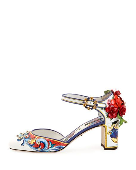 0c90299a1980 Floral-Embellished Mary Jane Pump