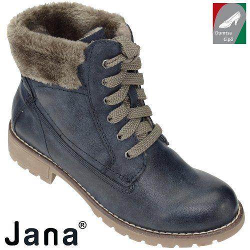 Jana női bakancs 8-26214-29 808 kék  4d69240566