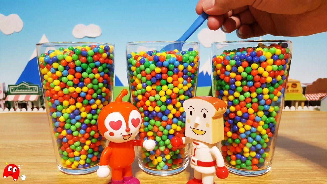 アンパンマン アニメ&おもちゃ グラスの中にカラービーズ 何が出るかな?