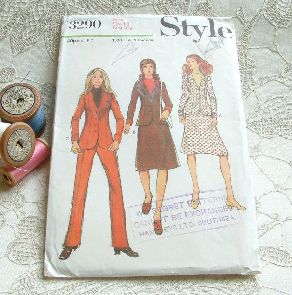 Vintage Sewing Pattern 1970's Style jacket by PaintedSongbird, £3.50
