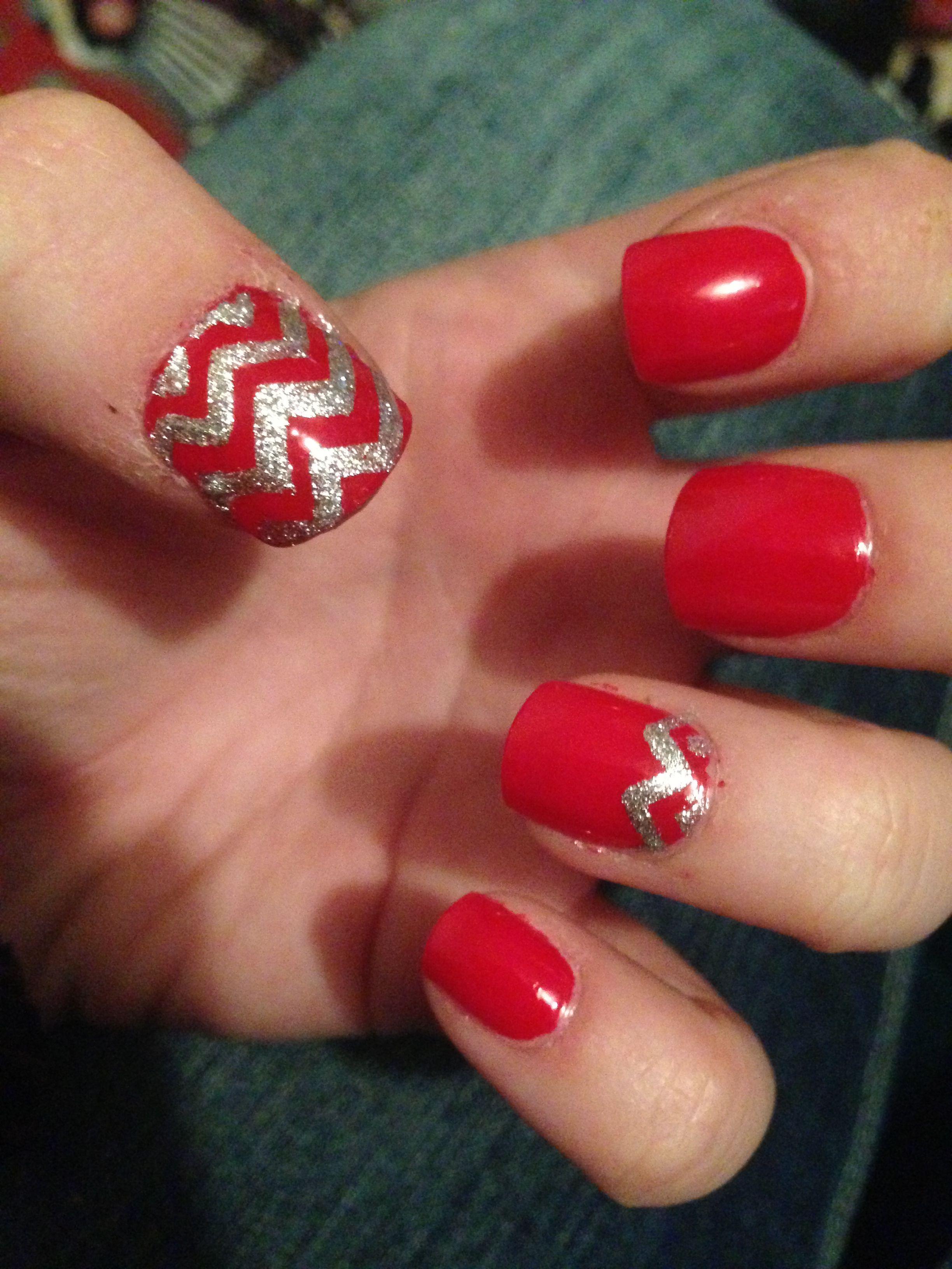 Alabama chevron nails | Nails