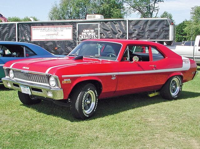 1970 Chevrolet Nova Yenko Deuce 350 Cid 370 Horsepower Small Block Lt1 Option Code Red With White Stripes Chevy Nova Chevrolet Nova Chevy Muscle Cars