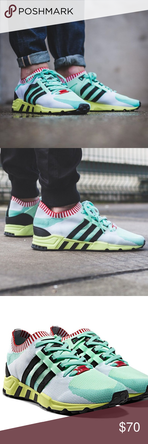 newest 5a767 50367 Adidas EQT Support RF PK Frozen Green Primeknit Brand new ...