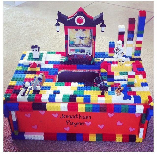 Ninjago Lego valentine's class box