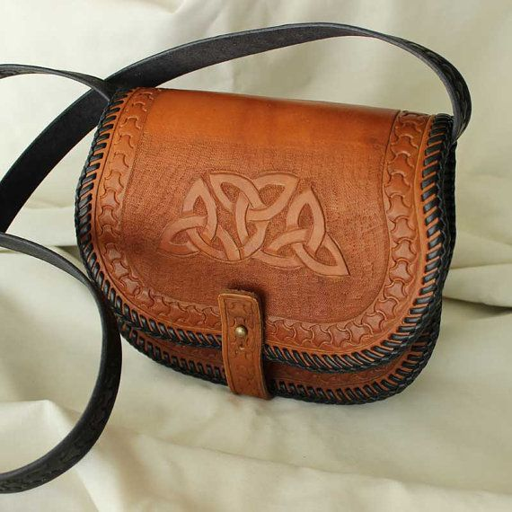 Handcrafted Leather Purse Celtic Knots