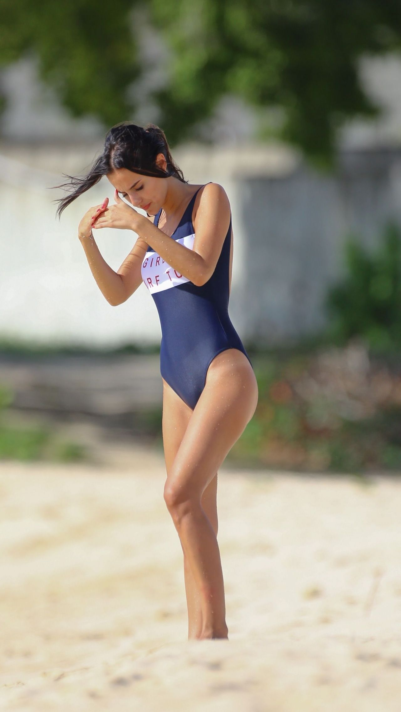 d8cc15dcd33 Lucy Watson #LucyWatson in Swimsuit on the Beach in Barbados 04/01 ...