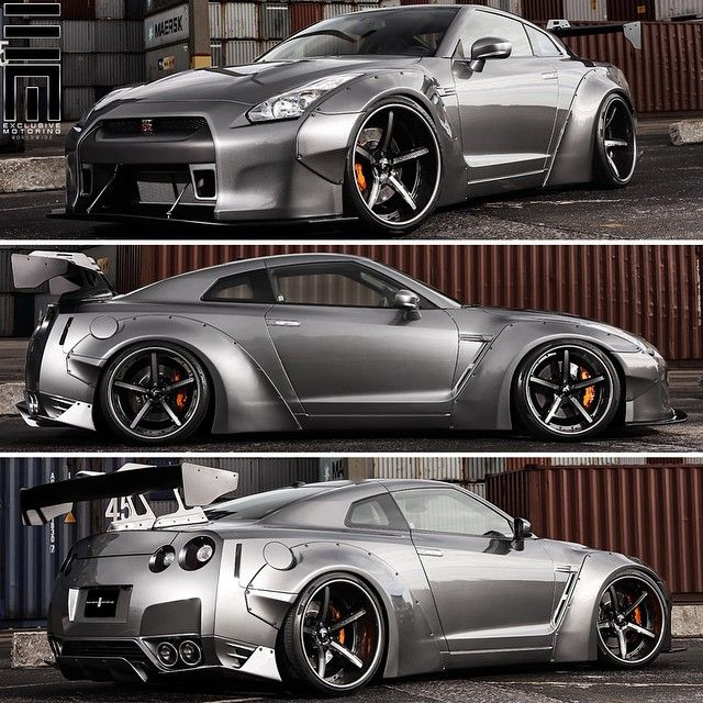 """""""Nissan GTR fully customized by @ExclusiveMotoring with a full Liberty Walk wide body kit, Forgiato wheels, and more! #ExclusiveMotoring #Miami"""""""