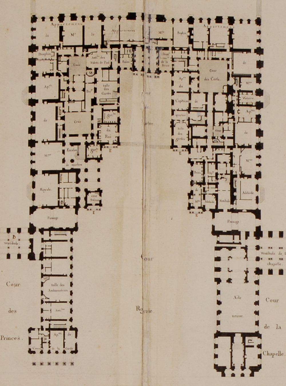 plan 1 hampton court palace ground floor british history online 24 ground floor plan chateau de versailles it shows the pre revolutionary layout before the huge reforms undergone under louis philippe i in