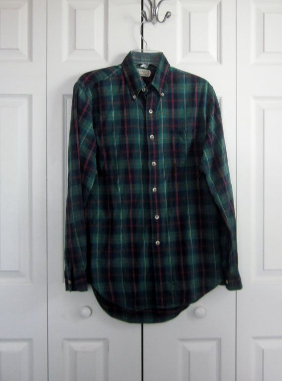 12bb3277453f1 Vintage Hipster LL Bean Plaid Flannel Shirt by MarjoriesMemories ...
