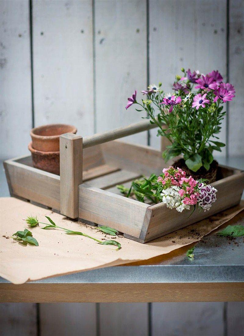 Colworth Flower Trug Wooden flowers, Garden inspiration