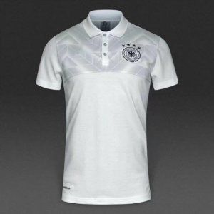 96464b1a9 Germany National Team 2017-18 White Polo Shirt  K522