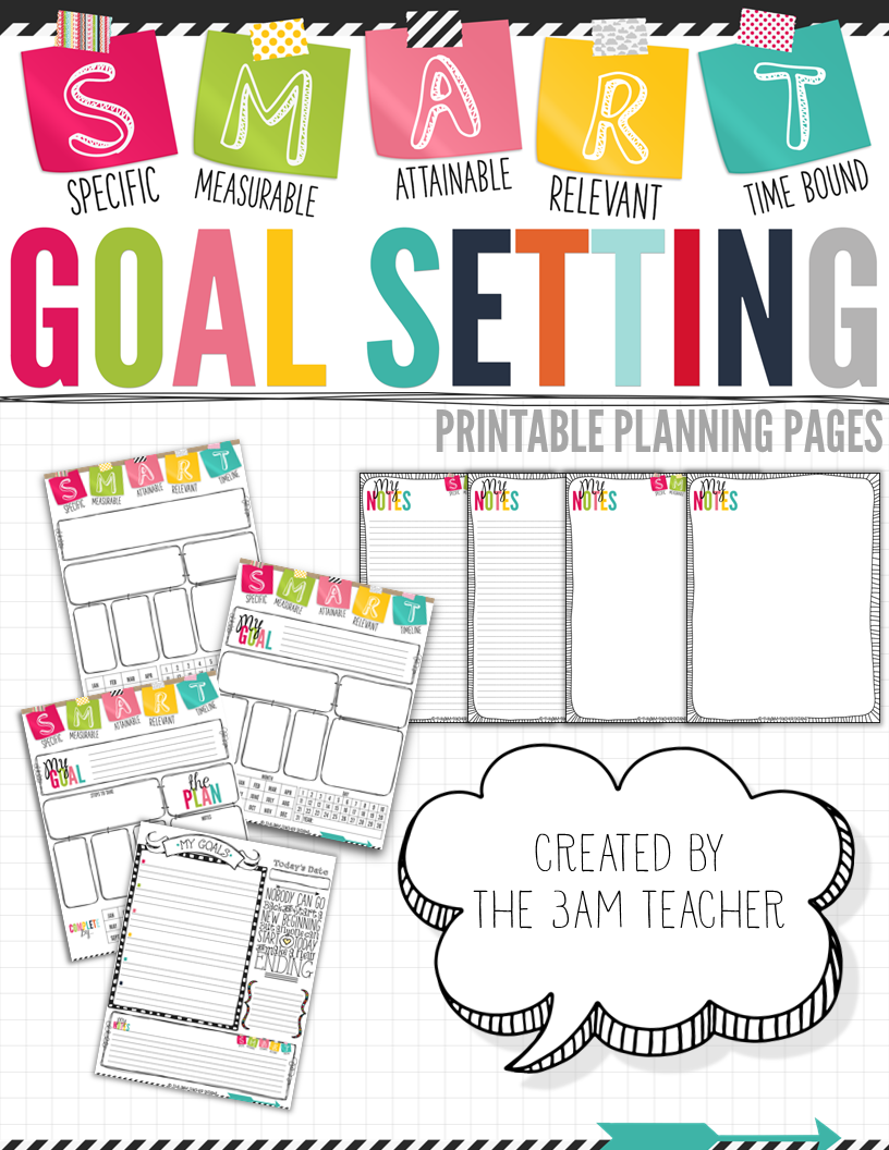 SMART Goal Setting Printable Pages  Long Term Goals Goal