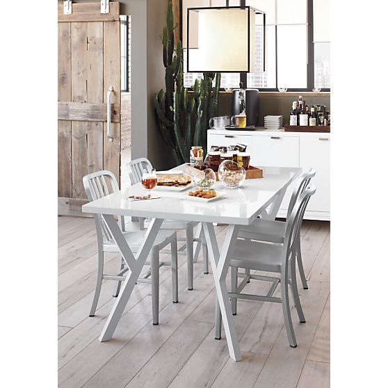 Delta Aluminum Dining Chair And Cushion Decor Pinterest Dining Fascinating Aluminum Dining Room Chairs