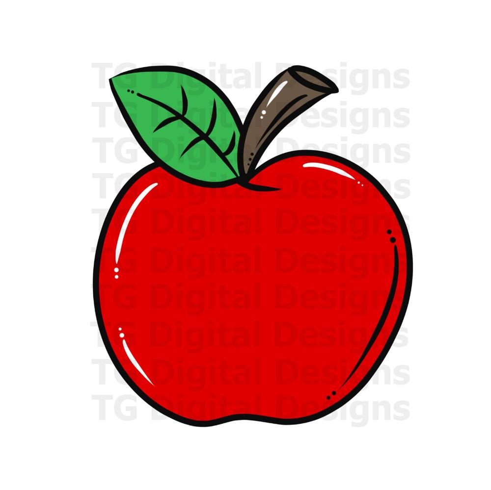 Red Apple Png Teacher Png School Png Apple Clipart Back To School Apple Design Teacher Shirt Printable Digital Download File Apple Design Red Apple Clip Art
