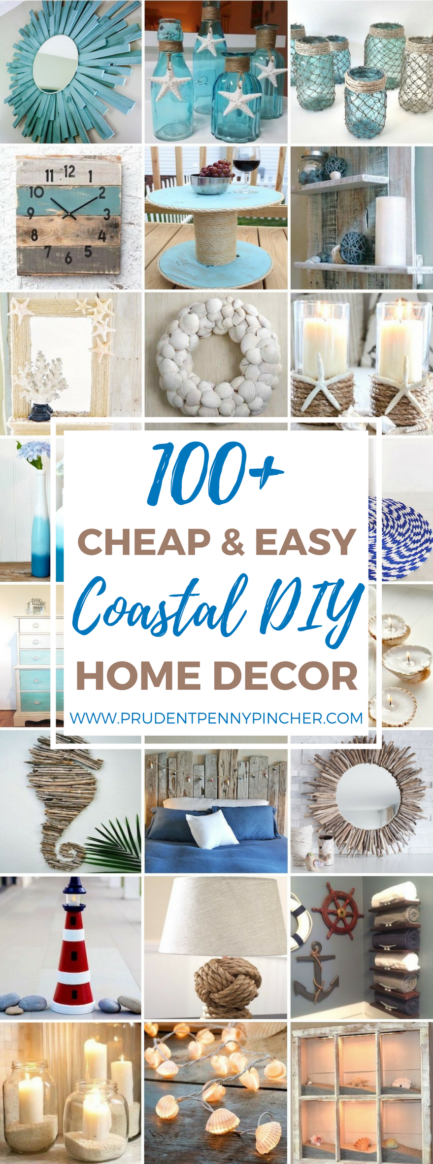 100 Cheap and Easy Coastal DIY Home Decor Ideas | Pinterest ...