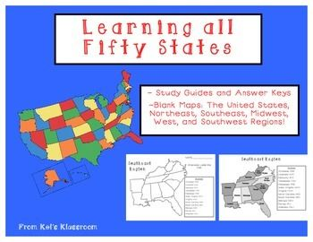 Teach the location of all fifty states using these blank maps and ...