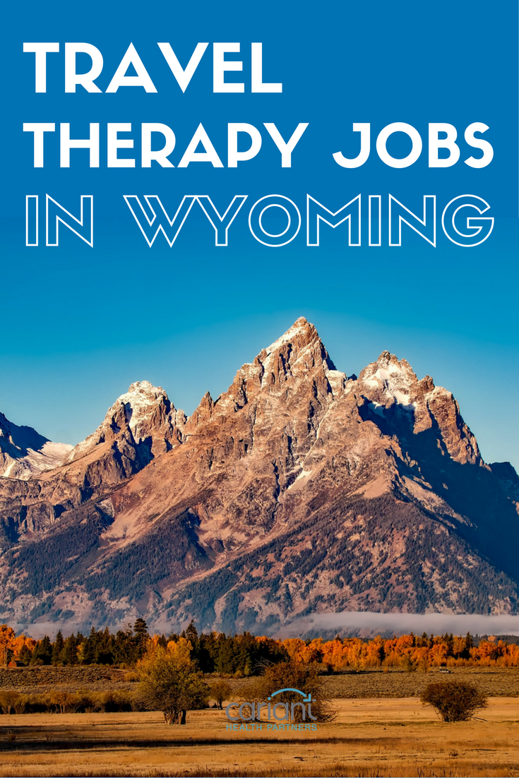 Travel PT, OT and SLP jobs in Wyoming. See what's new with