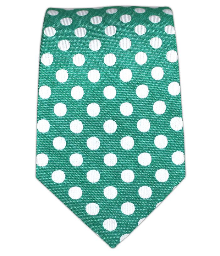 - Cherry Beach Dots - Mint (Linen Skinny) Ties $15.00