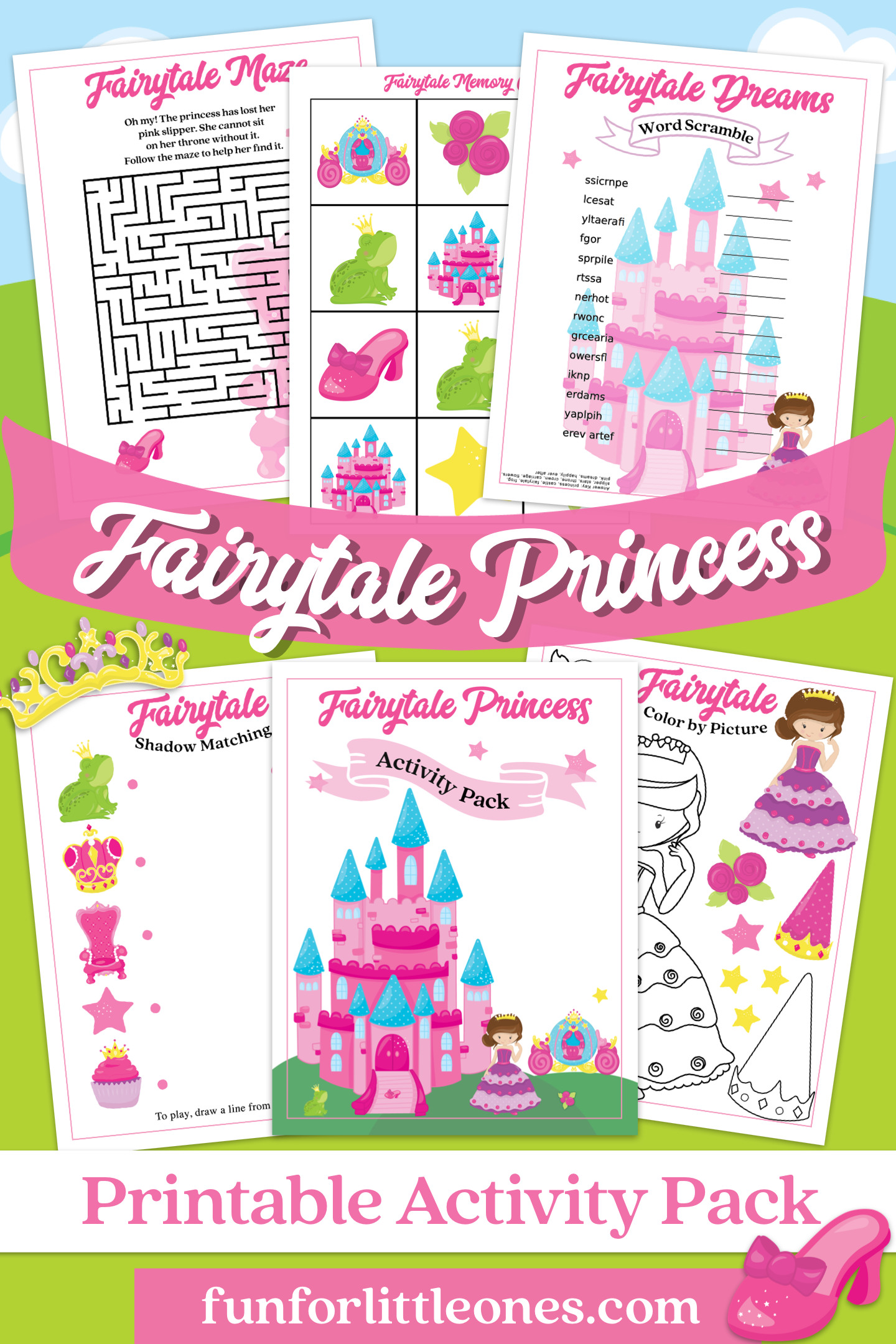 Fairy Tale Princess Activities Pack