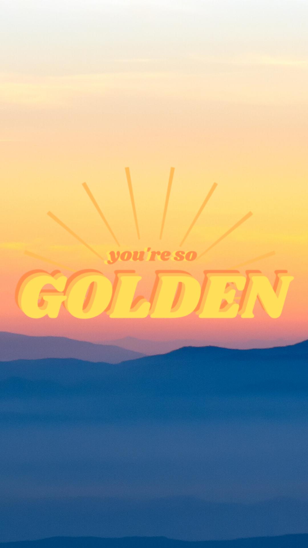 Golden Harry Styles Lockscreen In 2020 Style Lyrics Harry Styles Wallpaper Iphone Harry Styles Lockscreen
