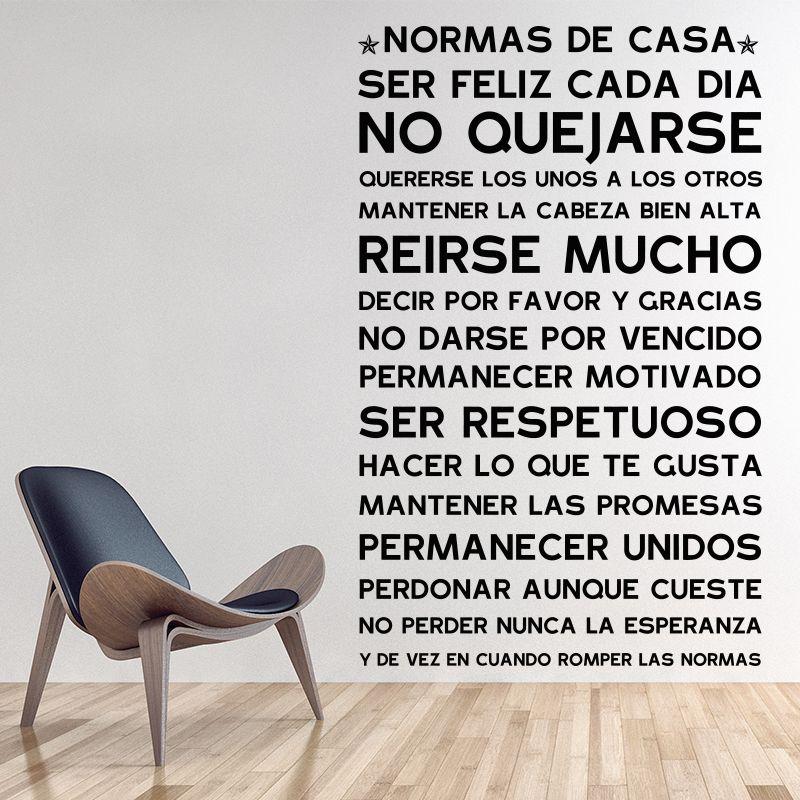Find More Wall Stickers Information About Spanish Version NORMAS DE CASA  House Rules Wall Sticker Home