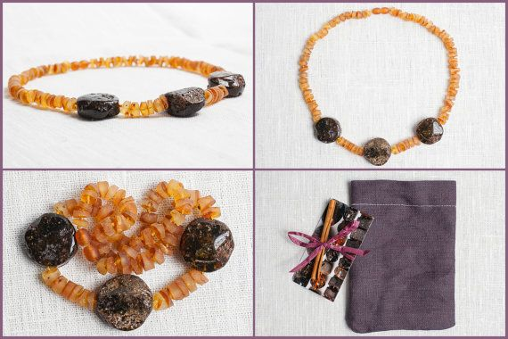 Luxury baltic amber necklace. Beaded natural by LuxuryBalticAmber, $36.99
