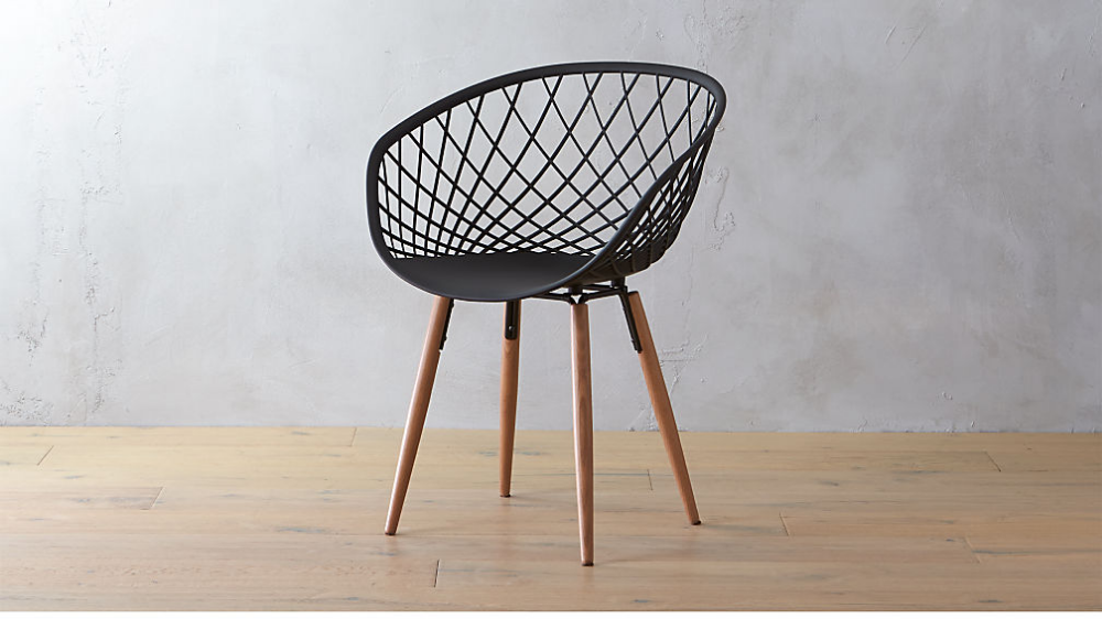 Sidera White Crosshatch Chair + Reviews CB2 in 2020