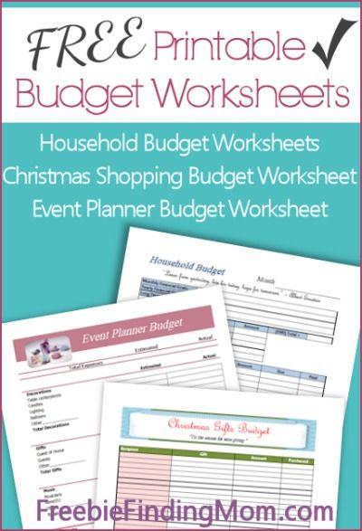 29 Free Home Organization Printables Printable Budget Worksheet