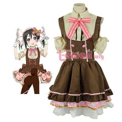 Anime Love Live Nico Yazawa Cosplay Costume Maid Dress