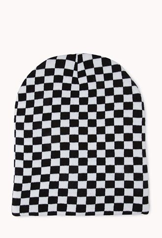 ac0a8415915 Street-Chic Checkered Beanie