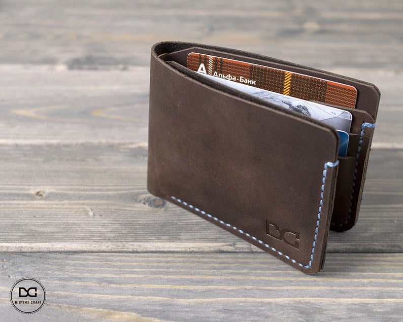 Distressed Leather Card Wallet Custom Bifold Wallet Men Card Wallet Bifold Wallet Men Card Wallet Leather Personalization Bifold Wallet Men Leather Card Wallet Card Wallet