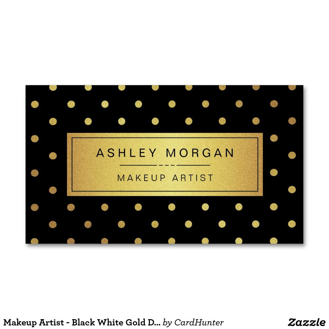 Black gold business card template cutare google salon ideas shop makeup artist black white gold dots business card created by cardhunter personalize it with photos text or purchase as is magicingreecefo Images
